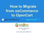 How to Migrate from osCommerce to OpenCart