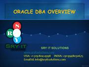 oracle dba ppt | oracle dba online training | dba tutorials