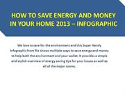 How to Save Energy and Money in your Home