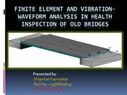 Finite element and vibration- waveform analysis in health