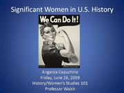Significant Women in History