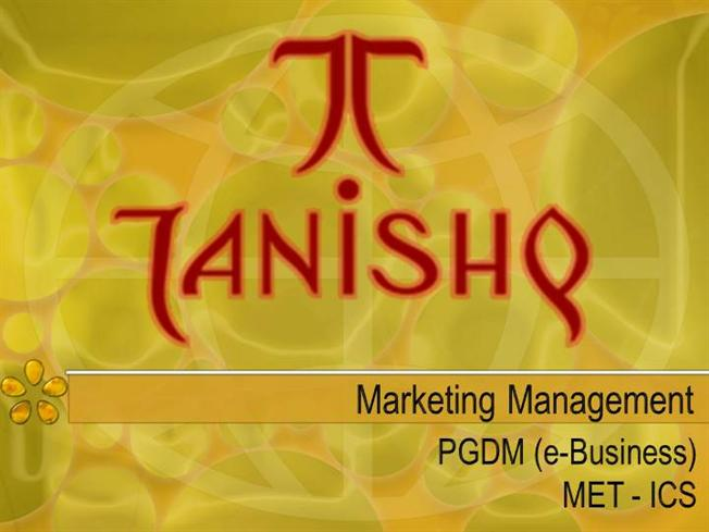marketing strategy of tanishq jewellery
