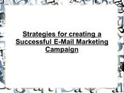 Strategies for creating a Successful E-Mail Marketing Campaign