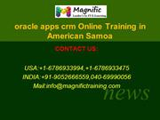 oracle apps crm Online Training in American Samoa