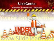 UNDER CONSTRUCTION SIGNS METAPHOR POWERPOINT BACKGROUND