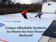 Unique Affordable Synthetic Ice Sheets for Your Home's Backyard