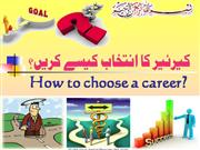 How to choose  career?