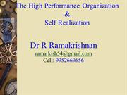 RK= High Performance Organizations
