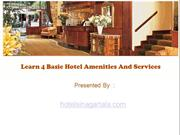 Learn 4 Basic Hotel Amenities And Services