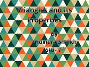 Triangles,its Types and Properties  of Triangles (Standard 7th)