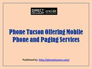 Phone Tucson Offering Mobile Phone and Paging Services