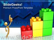 LEGO GROWTH CHART BUSINESS POWERPOINT BACKGROUND