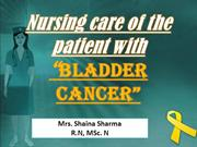 CANCER OF BLADDER