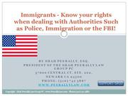 Know Your Rights -Immigrants