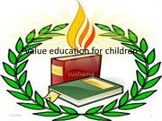 Value education for children
