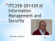 ITC358–201530 AI Information Management and Security