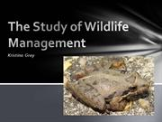 The Study of Wildlife Management