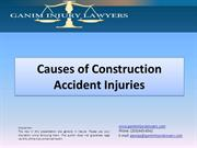 Causes of Construction Accident Injuries