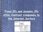 Fixed IPs and dynamic IPs offer Contrast Companies to the Internet Sur