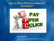 How to Write Effective Adwords Campaign
