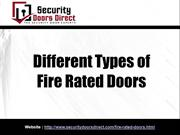 Different Types of Fire Rated Doors