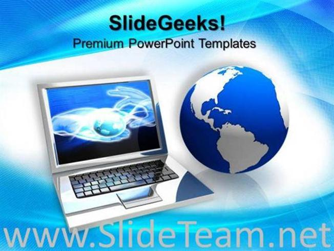 Laptop Computer Powerpoint Background Powerpoint Template