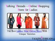 Buy Online Designer Sarees and Salwar Kameez on talkingthreads
