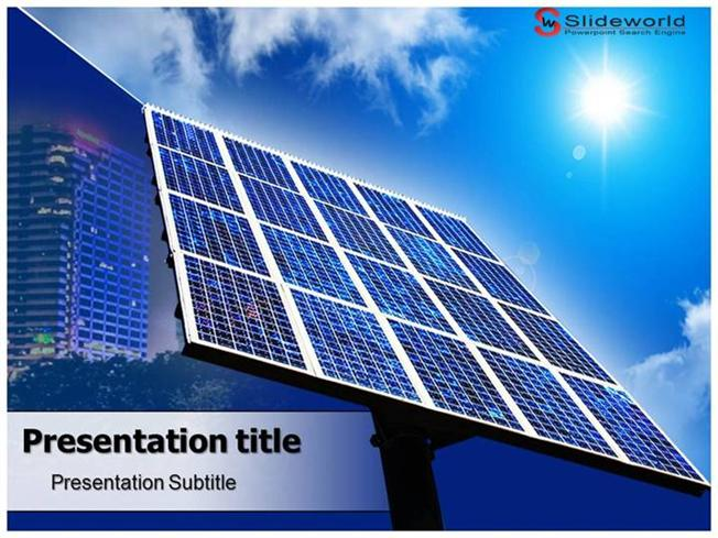 solar panels powerpoint template slideworld authorstream
