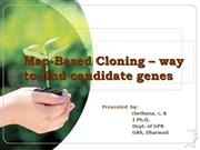Map Based Cloning- way to find candidate genes