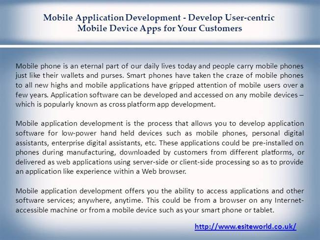 Cross Platform Mobile App Development |authorSTREAM