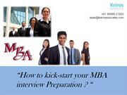How should you go about preparing for your B-School Interview