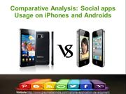 Comparative analysis: Social apps usage on iPhones and Androids
