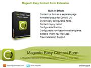 Magento Contact Form Extension, Easy Contact Form  - Velanapps.com