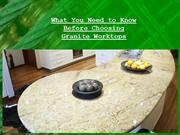 What You Need to Know Before Choosing Granite Worktops