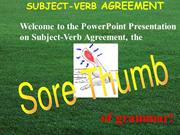 Basic Grammar subjectVerbAgreement
