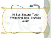 10 Best Natural Teeth Whitening Tips - Nurse's Guide
