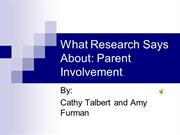 What Research Says About Parent Involvement