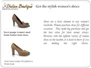 Get  the stylish women's shoes
