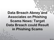 Data Breach Abney and Associates on Phishing Scams News