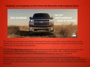 Reliability and Capability of 2014 Chevrolet Silverado at Mcloughline