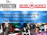 Hire sound and lighting facilities for an unforgettable