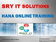 SAP HANA ONLINE TRAINING | HANA COURSE DETAILS