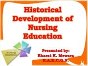 historical development of nurisng education