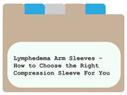 Lymphedema Arm Sleeves