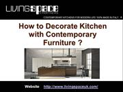 How to Decorate Kitchen with Contemporary Furniture