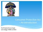 Consumer Protection Act - An introduction
