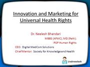 Innovation and Marketing for Health Rights PPT