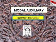 COMMON MISTAKES IN MODAL