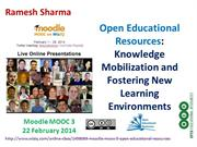 Open Educational Resources: Knowledge Mobilization