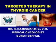 TARGETED THERAPY IN THYROID CANCER